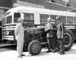 Fort Wayne Transit: delivery of new International Harvester tractor to Ned W. Glass by Don...