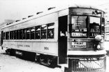 Indiana Service Corporation: interurban railroad car, steel unibody built 1923 by St. Louis Car...