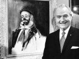 A couple of clowns - Red Skelton, native of Indiana: I love this particular painting because it's...