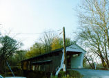 Covered bridge, Spencerville IN, built 1873. Taken October 1974 by Susan Pallone.