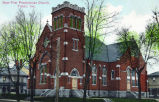 New First Presbyterian Church, Tipton IN : colored postcard