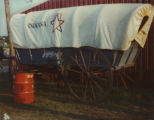 American Bicentennial, covered wagon at Indiana State Fair. 1976.