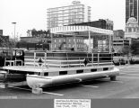 America in Motion Festival, Fort Wayne IN : 19-20 June 1976. Pontoon boat as part of display in...