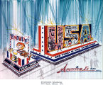American Bicentennial, Fort Wayne IN: drawing of proposed float for 4th of July parade, possibly...