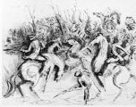 Drawing of battle of Fallen Timbers, 1794