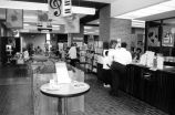 Allen County Public Library: Hessen-Cassel Branch, interior showing circulation desk, stacks in...