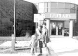 Allen County Public Library: Dupont Branch, exterior showing main entrance with patrons. Taken...