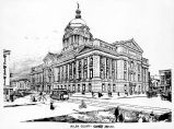 Allen County Courthouse, Fort Wayne IN: artist's rendering.