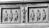 ALLEN COUNTY COURT HOUSE. FIGURES OUTLINING EXTERIOR OF ALLEN COUNTY COURT HOUSE. NEWS-SENTINEL...