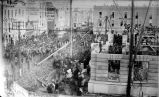 ALLEN COUNTY COURT HOUSE. LAYING OF THE CORNERSTONE.  FIFTH ALLEN COUNTY COURT HOUSE.   MAIN AND...