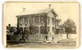 Abraham Lincoln's home draped in mourning