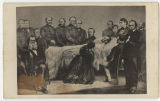 Abraham Lincoln on his deathbed