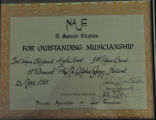 11TH ANNUAL PHI MU ALPHA JAZZ FESTIVAL 1985 3RD PLACE