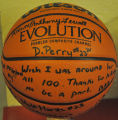 2008 BASKETBALL SIGNED FOR COACHES 100 WINS AT ELMHURST HIGH SCHOOL