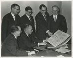 1965 Work Program Conference. Seated:  Rev. Stratford Eynon; Dr. Arthur L. Amt. Standing, left to...