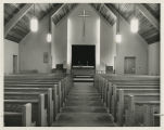 1962 Photographs of Ohio Congregations. Interior of Zion Church. Ridgeville Corners, Ohio. All the...