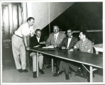 Central District Convention, Fort Wayne, Ind. 1957. Left to right: K. Krudop, Alfred Winter, D. C....
