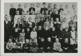Zion Lutheran School, Fort Wayne, Ind. Around 1900. School pupils. Left to right: 1st row - Louis...