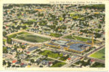 Ariel View of South Side High School and Stadium Fort Wayne, IN.