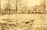 A view along St. Joe Blvd. after the Big Flood, March 25-30, 1913, Ft. Wayne, Ind. Standish Photo,...