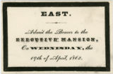 Abraham Lincoln funeral ticket, Washington, D.C.