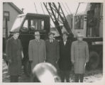 Left to right:  Frank K. Ross, Board of Works; Robert G. Beams; Oren Darling, Board of Works; John...