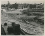 After Monument Park was dug out.  View is at Main & Clay, looking south on Clay.